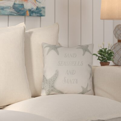 Clarkson Dreaming of a Sandy Christmas Indoor/Outdoor Throw Pillow Size: 18 H x 18 W x 4 D
