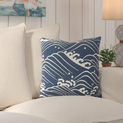 Charter Oak Ikat Throw Pillow Size: 18 H x 18 W x 4 D, Color: BlueNeutral