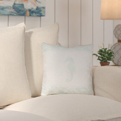 Chiaramonte Seahorse�Indoor/Outdoor Throw Pillow Size: 18