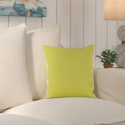 Murrayville Outdoor Throw Pillow Size: 20 H x 20 W x 0.25 D, Color: Lime