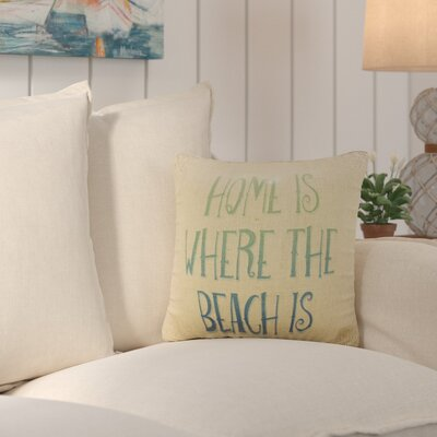 Fruitland Beach Home Burlap Throw Pillow
