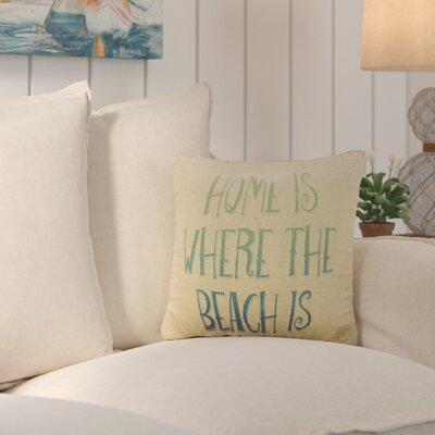 Dickenson Beach Home Burlap Throw Pillow