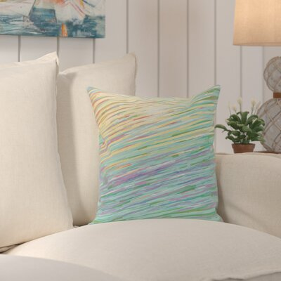 Voluntown Abstract Coastal Decorative Outdoor Pillow Size: 18 H x 18 W x 1 D, Color: Multi