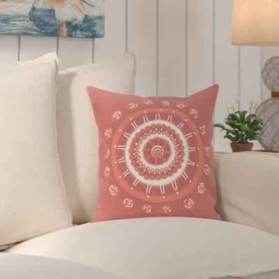 Rajashri Geometric Square Throw Pillow Color: Coral, Size: 26 H x 26 W