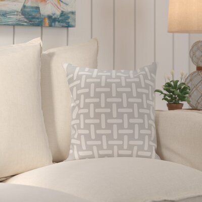 Middlefield Geometric Decorative Outdoor Pillow Color: Rain, Size: 16 H x 16 W x 1 D
