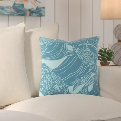 Charter Oak Coastal Throw Pillow Size: 18 H x 18 W x 4 D, Color: Blue