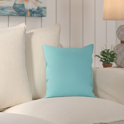 Wiscasset Indoor/Outdoor Throw Pillow Size: 20 H x 20 W x 0.25 D, Color: Aqua
