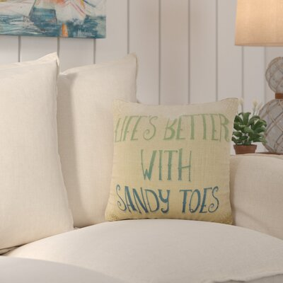 Dickenson Sandy Toes Burlap Throw Pillow