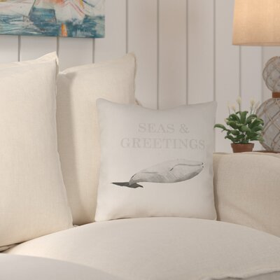 Christianson Indoor/Outdoor Throw Pillow Size: 18 H x 18 W x 4 D, Color: Neutral