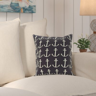 Rajashri Throw Pillow Size: 18 H x 18 W, Color: Navy Blue / Green