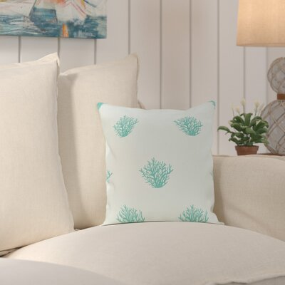 Rajashri Traditional Throw Pillow Size: 18 H x 18 W, Color: Soft Aqua / Aqua