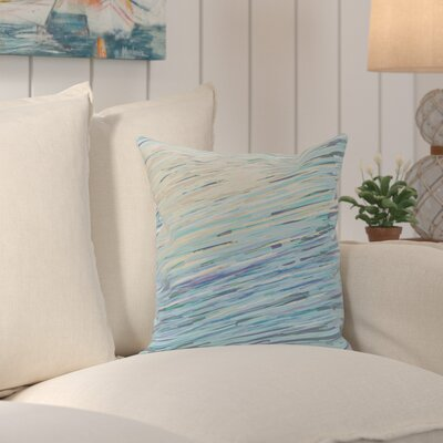 Voluntown Abstract Coastal Decorative Outdoor Pillow Size: 20 H x 20 W x 1 D, Color: Neutral