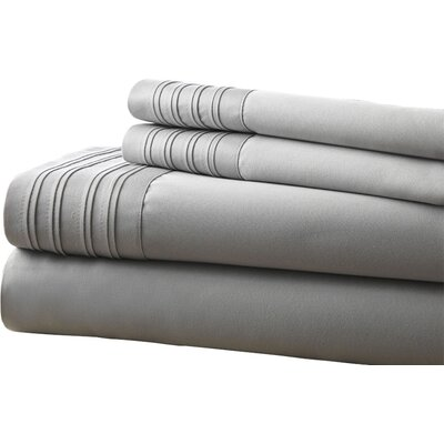Holmes 1000 Thread Count 4 Piece Sheet Set Size: Full, Color: Gray