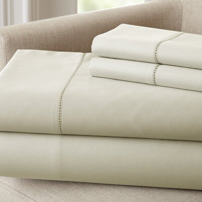 Holmes 400 Thread Count Cotton Sheet Set Size: Queen, Color: Linen