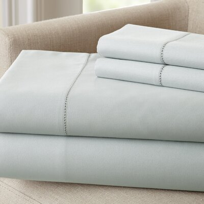 Holmes 400 Thread Count Cotton Sheet Set Size: Queen, Color: Blue