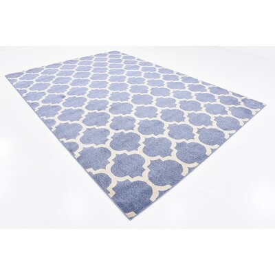Suffolk Light Blue Area Rug Rug Size: 8 x 11