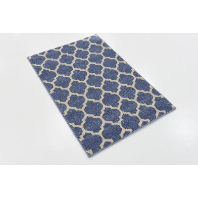 Harding Light Blue Area Rug Rug Size: Rectangle 5 x 8