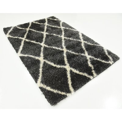 Southampton Black Area Rug Rug Size: Rectangle 4 x 6