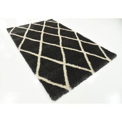 Southampton Black Area Rug Rug Size: 5 x 8