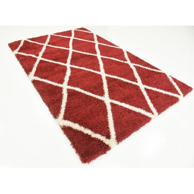 Southampton Burgundy Area Rug Rug Size: Rectangle 5 x 8