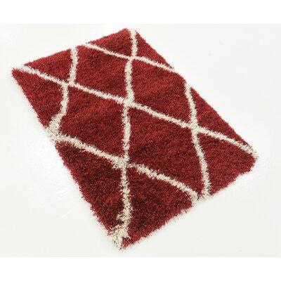 Southampton Burgundy Area Rug Rug Size: Rectangle 22 x 3