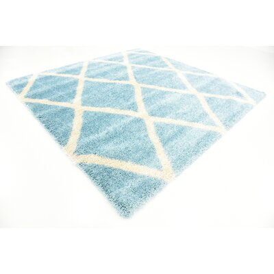 Southampton Light Blue Area Rug Rug Size: Square 8