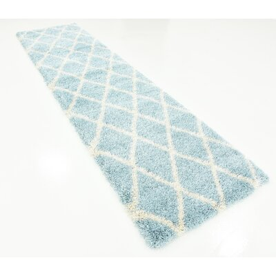 Southampton Light Blue Area Rug Rug Size: Runner 27 x 10