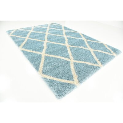 Southampton Light Blue Area Rug Rug Size: Rectangle 7 x 10