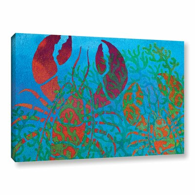 'Lobs in Seaweed' Graphic Art on Wrapped Canvas Size: 12