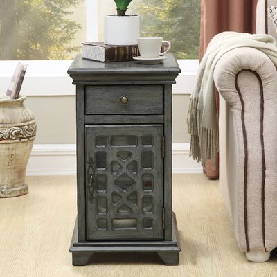 Highgate End Table with Storage Color: Gray