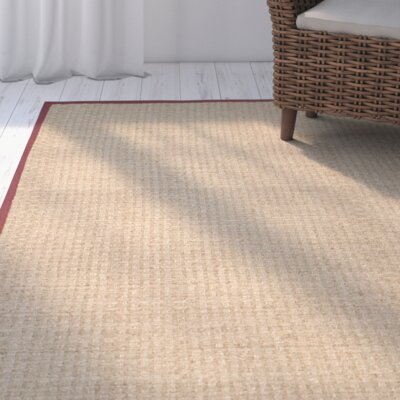 Richmond Natural/Red Area Rug Rug Size: 3 x 5