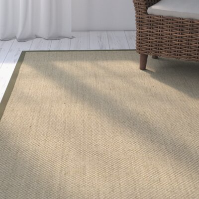 Richmond Natural/Green Area Rug Rug Size: 3 x 5