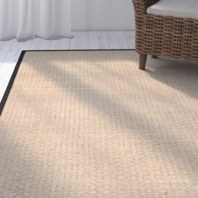 Richmond Natural & Black Area Rug Rug Size: 6 x 9
