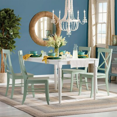 Brookwood 5 Piece Dining Set Chair Finish: Mint