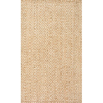 Vachel Hand-Woven Natural Area Rug Rug Size: Rectangle 6 x 9