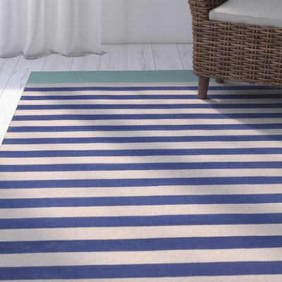 Kinslee Cobalt/Light Gray Area Rug Rug Size: Rectangle 33 x 53