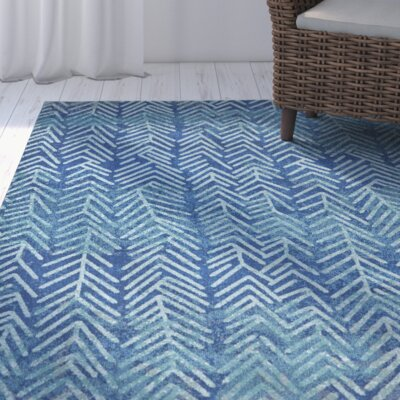 Terwood Pacific Blue Area Rug Rug Size: 22 x 4