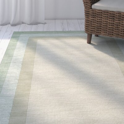 Frederica Green/Beige Area Rug Rug Size: Rectangle 76 x 96