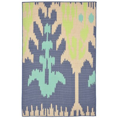 Maile Blue Indoor/Outdoor Area Rug Rug Size: 410 x 76