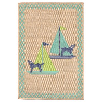 Coeur Blue Indoor/Outdoor Area Rug Rug Size: 710 x 910