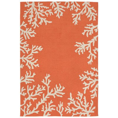 Claycomb Hand-Tufted Orange Indoor/Outdoor Area Rug Rug Size: Rectangle 17 x 25