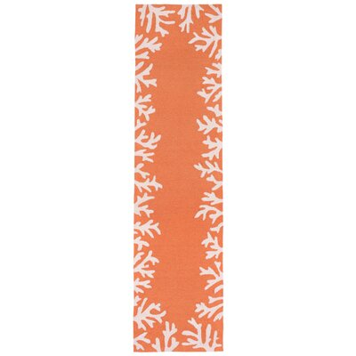 Claycomb Hand-Tufted Orange Indoor/Outdoor Area Rug Rug Size: 2 x 3