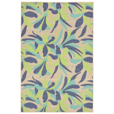 Coeur Rectangle Blue Indoor/Outdoor Area Rug Rug Size: 111 x 211