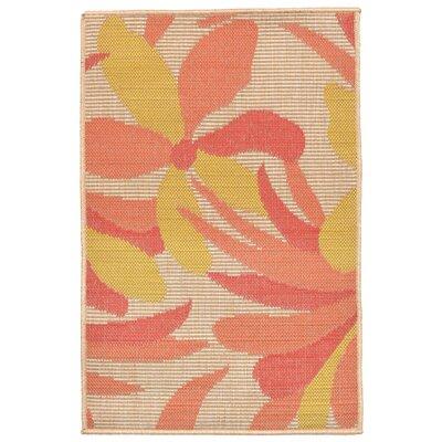Maile Orange Indoor/Outdoor Area Rug Rug Size: 33 x 411