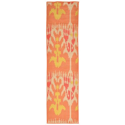 Maile Orange Indoor/Outdoor Area Rug Rug Size: Runner 111 x 76