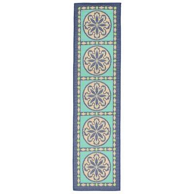 Maile Blue Indoor/Outdoor Area Rug Rug Size: Runner 111 x 76
