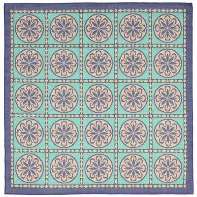 Maile Blue Indoor/Outdoor Area Rug Rug Size: Square 710