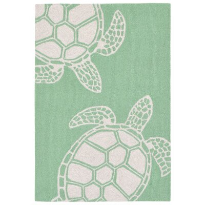 Claycomb Hand-Tufted Green Indoor/Outdoor Area Rug Rug Size: 76 x 96