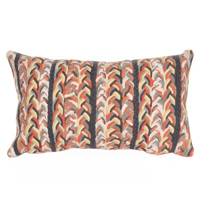Eliza Braided Stripe Indoor/Outdoor Lumbar Pillow Color: Orange