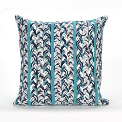Coalton Braided Stripe Indoor/Outdoor Throw Pillow Color: Blue